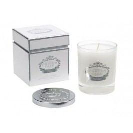 Svíčka ve skle White/silver, bílá barva, stříbrná barva