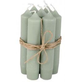 Svíčka světle zelená - set 6 ks, zelená barva
