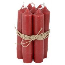 Svíčka Red - 6 ks, červená barva