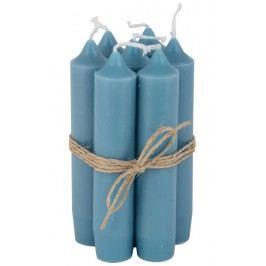Svíčka Jade - set 6 ks, modrá barva