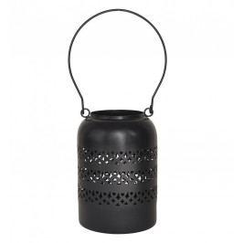 Kovová lucerna Kalidas Black, černá barva, kov