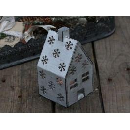 Lucernička domeček Antique white, šedá barva, bílá barva, zinek