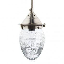 Závěsná lampa Glass, čirá barva, sklo, kov