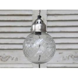 Stropní lampa Ball glass, čirá barva, sklo