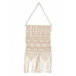 Nástěnná dekorace Artesian Ivory, krémová barva, textil