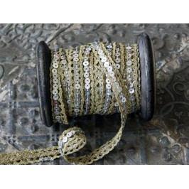 Dekorativní stuha Pistachio, zelená barva, textil