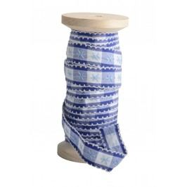 Dekorativní stuha Blue pattern, modrá barva
