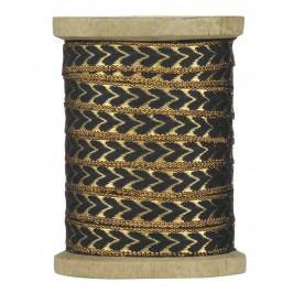 Dekorativní stuha Hearts copper, měděná barva, textil