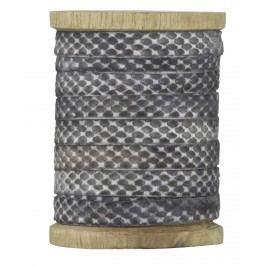 Dekorativní stuha Grey velvet, šedá barva, textil
