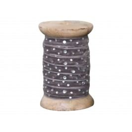 Dekorativní stuha s kamínky Grey, šedá barva, textil