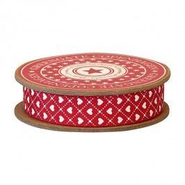 Dekorativní stuha Haven Red - 5m, červená barva, textil
