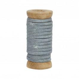 Dekorativní stuha Braided Blue, šedá barva, textil