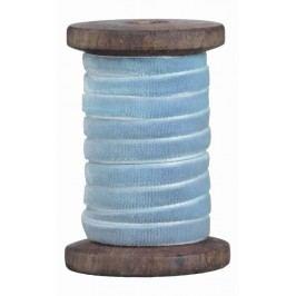 Sametová stuha Light Blue, modrá barva, textil