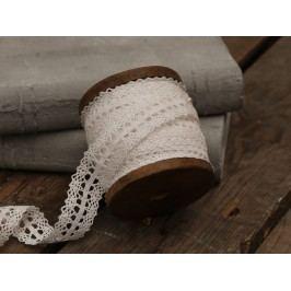 Krajková stuha na špulce Antique - 5 m, bílá barva, textil