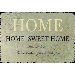 La finesse Plechová cedule Sweet Home, šedá barva, kov