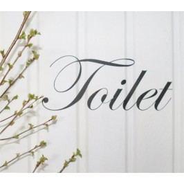 La finesse Nástěnná samolepka - Toilet, černá barva, plast