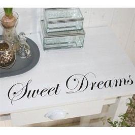 La finesse Nástěnná samolepka - Sweet Dreams, černá barva, plast