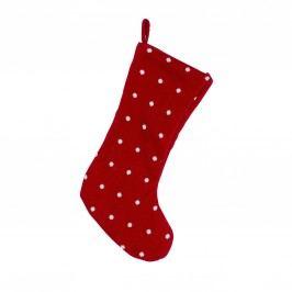 Mikulášská punčocha Knitted Red, červená barva, textil