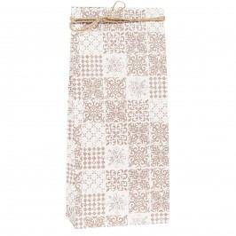 Papírový sáček Sand S, béžová barva, bílá barva, papír