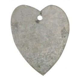 Dekorativní zinkové srdíčko, šedá barva, zinek
