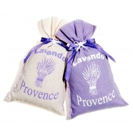 Pytlíčky s levandulí bílá/lila set 2 ks, fialová barva, béžová barva, textil