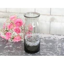 Váza New York, šedá barva, sklo
