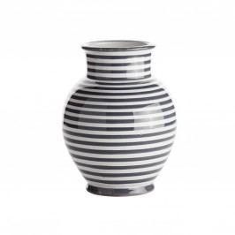 Keramická váza Striped Grey, šedá barva, keramika