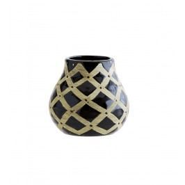 Keramická váza Africa Black, černá barva, keramika