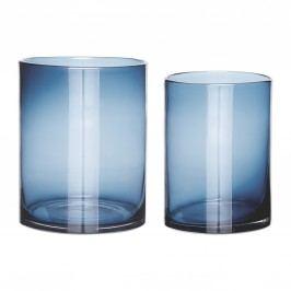 Skleněná váza Simple Blue Menší, modrá barva, sklo