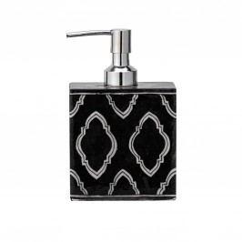 Keramický zásobník na mýdlo Handpainted, černá barva, bílá barva, keramika