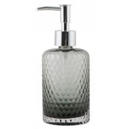 Zásobník na mýdlo Grey glass, šedá barva, sklo, plast