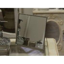 Zrcátko s opěrkou Lace Silver, stříbrná barva, sklo, kov