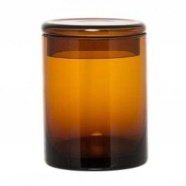 Skleněná dóza Brown glass, hnědá barva, sklo