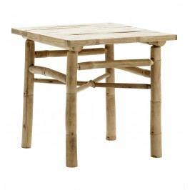 Bambusový stolek 45 cm, béžová barva