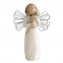 Anděl náklonnosti, bílá barva