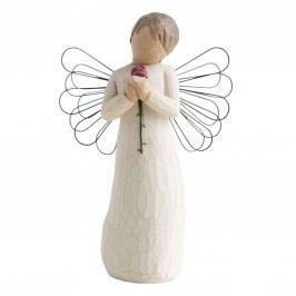 Milující anděl, béžová barva