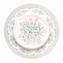 Dezertní talíř Stephanie warm grey, šedá barva, porcelán