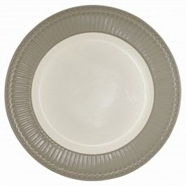 Obědový talíř Alice warm grey, šedá barva, porcelán