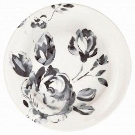 Dezertní talíř Amanda dark grey, šedá barva, bílá barva, porcelán