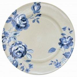 Dezertní talíř Amanda dark blue, modrá barva, šedá barva, porcelán