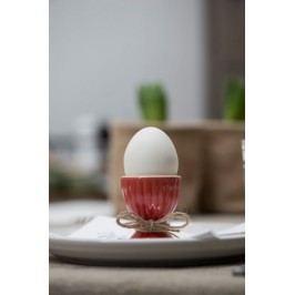Stojánek na vejce Mynte red, červená barva, keramika