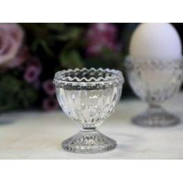 Skleněný stojánek na vejce Pearl Clear, čirá barva, sklo