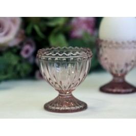 Skleněný stojánek na vejce Pearl Dusty rose, růžová barva, sklo