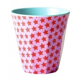 Melaminový pohárek Girls star blue, červená barva, růžová barva, modrá barva, melamin
