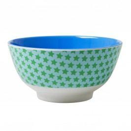 Melaminová miska Star green, modrá barva, zelená barva, melamin