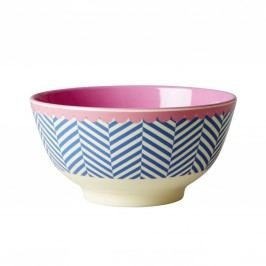 Melaminová miska Sailor stripe, růžová barva, modrá barva, melamin