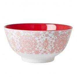 Melaminová miska Lace red, červená barva, růžová barva, melamin