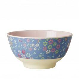 Melaminová miska Wild Flower, modrá barva, melamin
