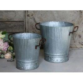 Zinkové vědro Old French - menší, šedá barva, zinek