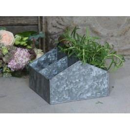 Zinkový box s přihrádkami Old French, šedá barva, zinek